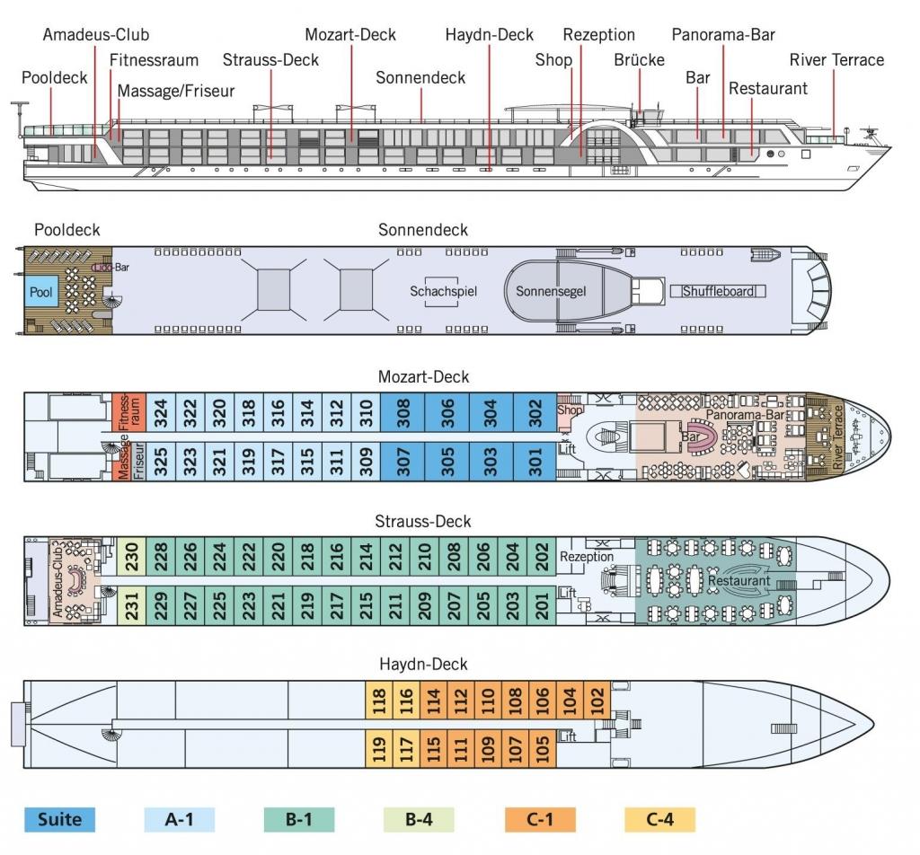 Deckplan - MS Amadeus Silver II