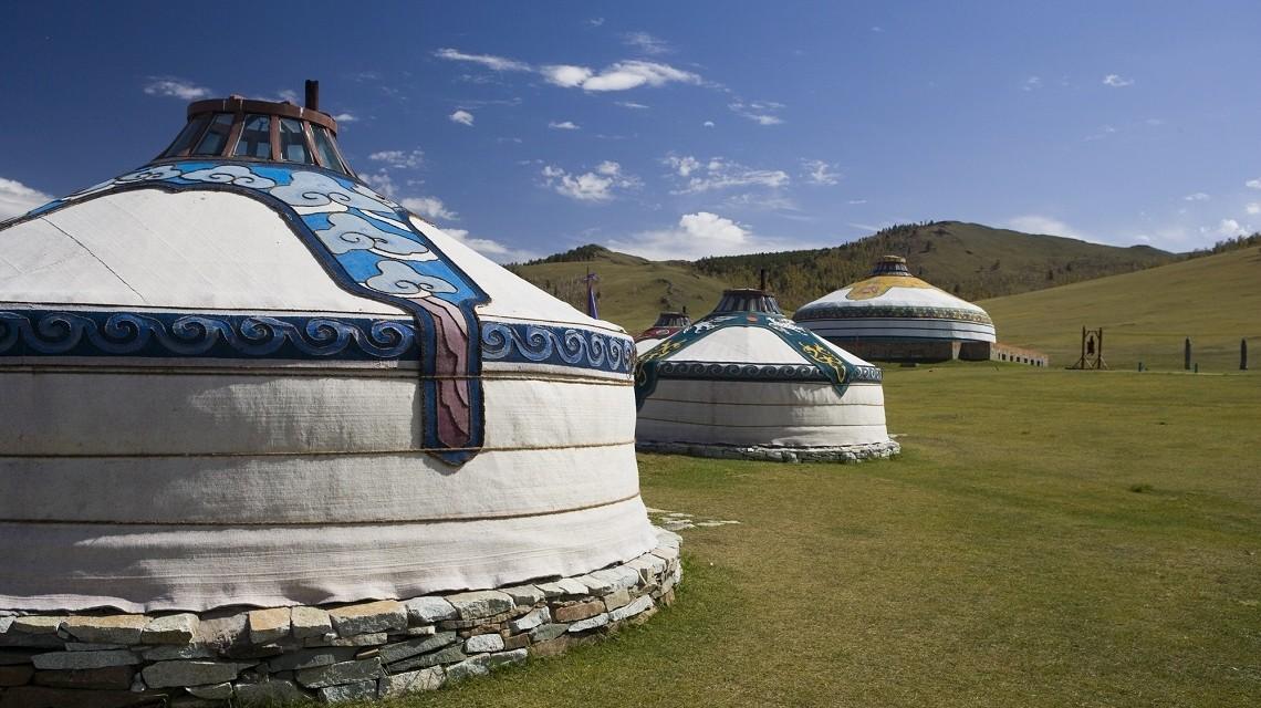 Jurten in Mongolien