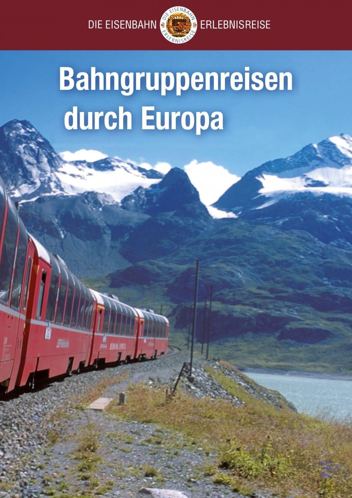 Katalogtitel Bahngruppenreisen durch Europa