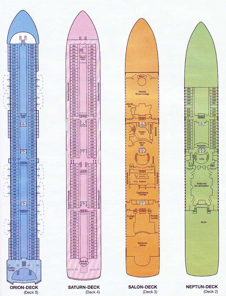 Deckplan - MS Artania