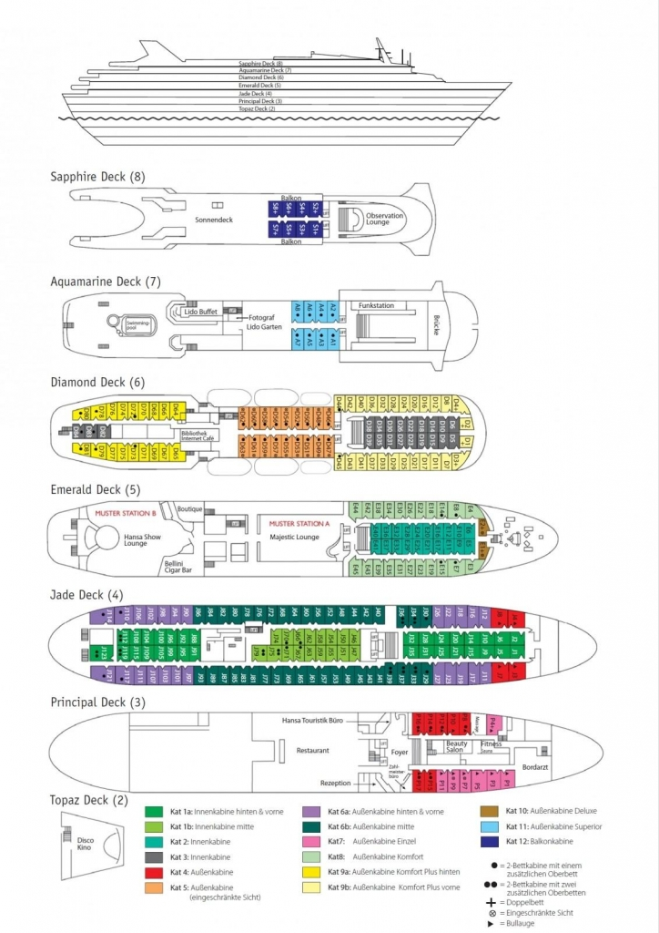 Deckplan - MS Ocean Majesty