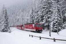 Glacier-Express Schnee