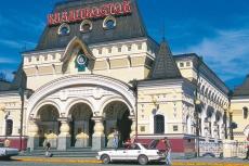 Unterwegs mit dem Zarengold - Bahnhof in Wladiwostok