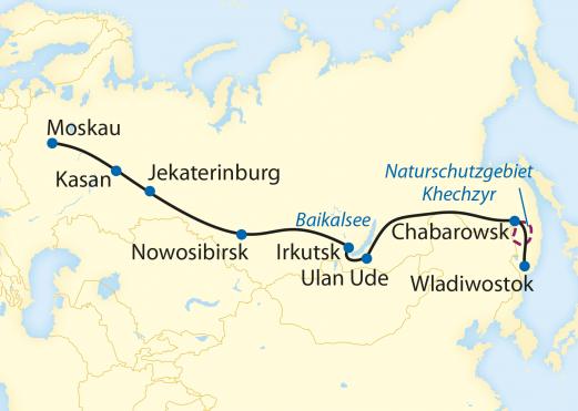 Zarengold - Auf der transsiberischen Eisenbahn von Wladiwostok nach Moskau