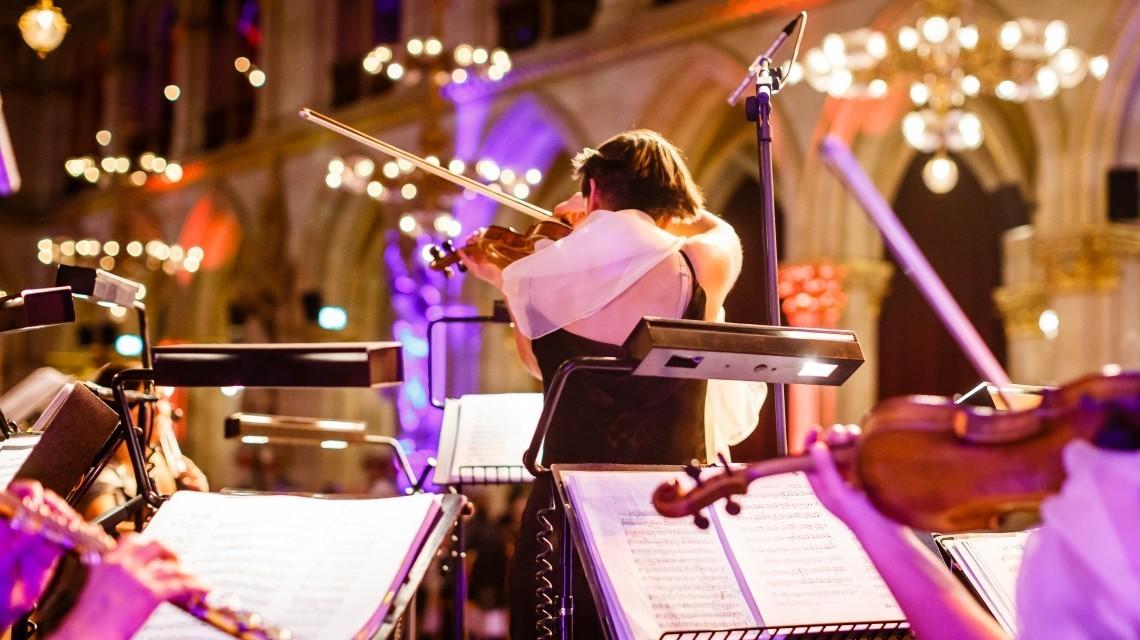 Erste Geige Silvestergala Rathaus Wien