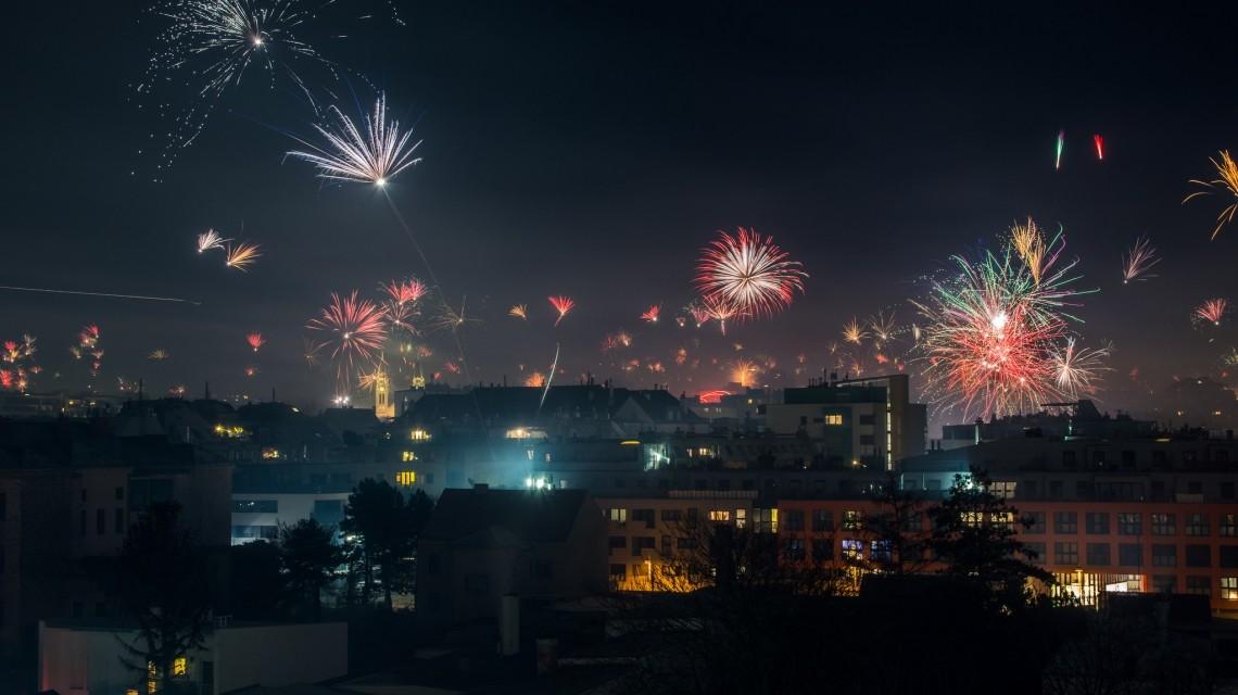 Wien Silvester Feuerwerk