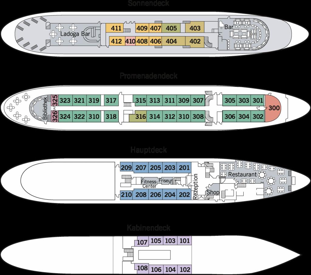 Deckplan - MS Volga Dream
