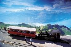 Brienzer Rothorn-Dampfzug mit Eisee