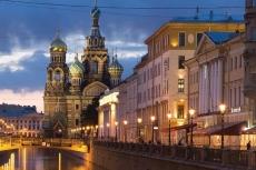 Bootsausflug am Abend in St. Petersburg