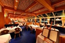 Speisesaal vom Hotel Bergfreund in Davos