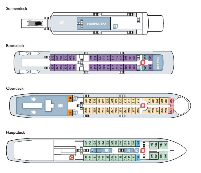 Deckplan MS Rossia
