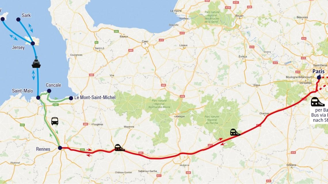 Route Kanalinseln