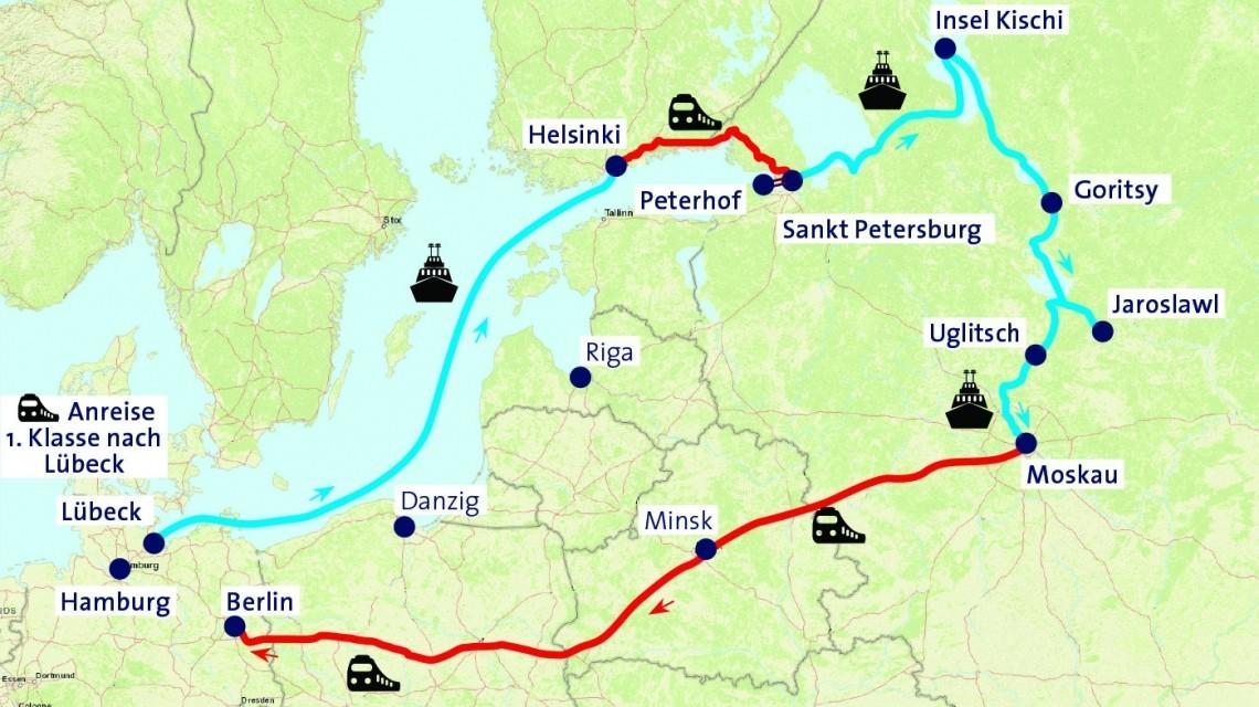 Routenverlauf Kalinka Express