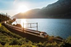 SBB Schnellzug am Genfer See