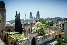 Baku mit Palast der Schirwanschahs in Aserbaidschan