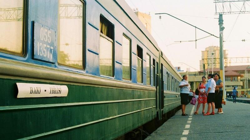 Georgien - Zug von Baku nach Tiflis