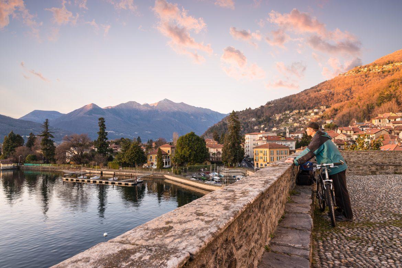 Sonnenuntergang, Lago Maggiore, Herbst