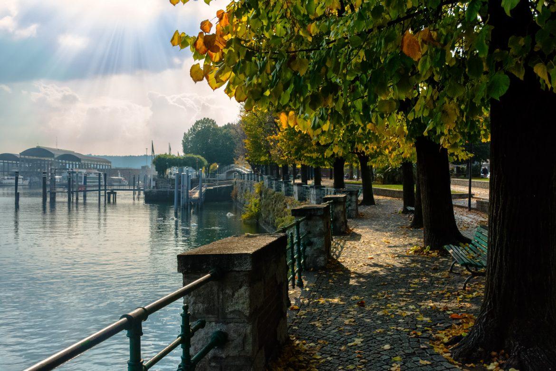 Arona, Lago Maggiore, Herbst