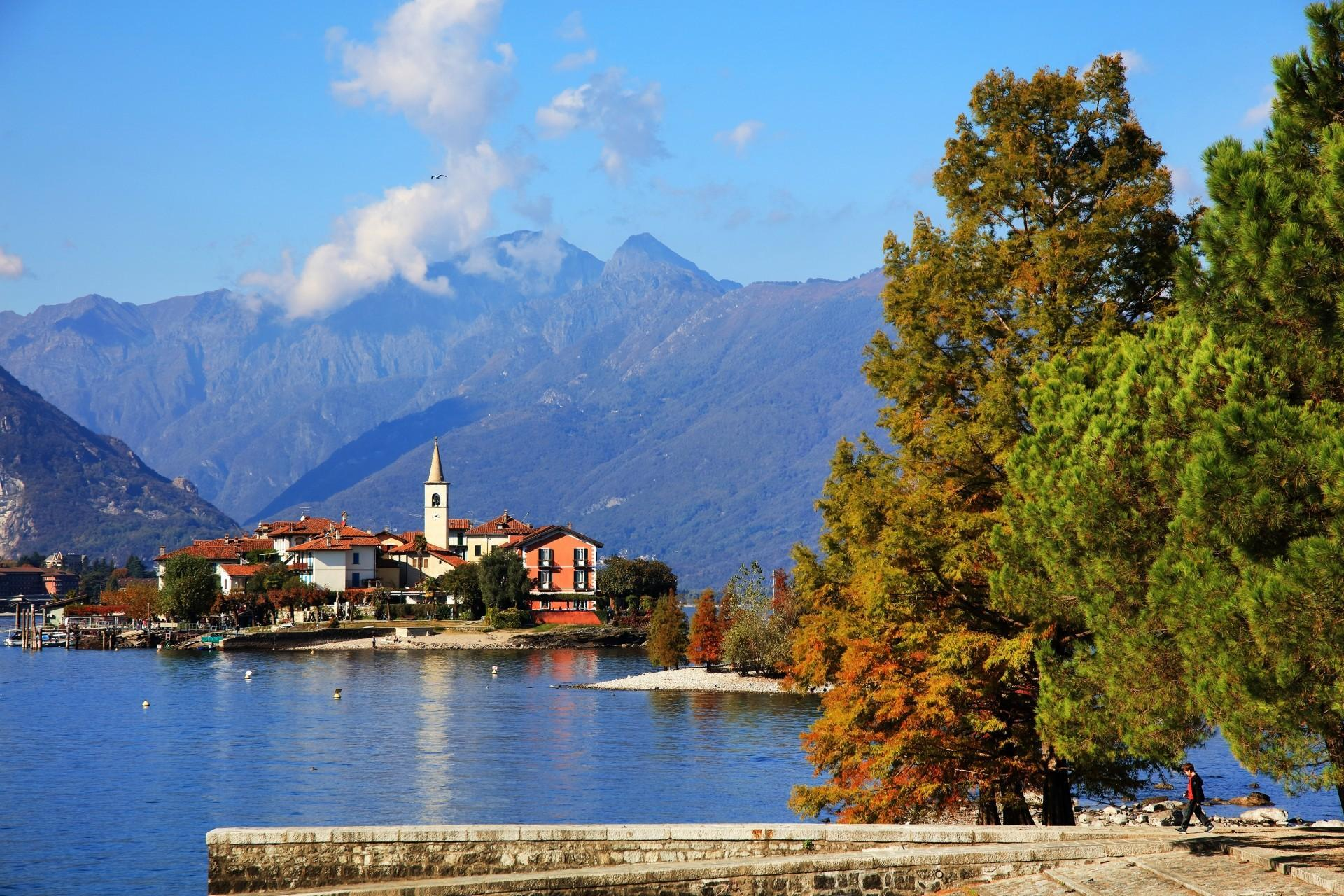 Fischerinsel, Lago Maggiore, Herbst