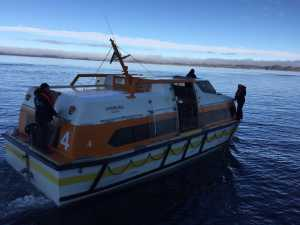 MS Hamburg, Groenland, Tenderboot