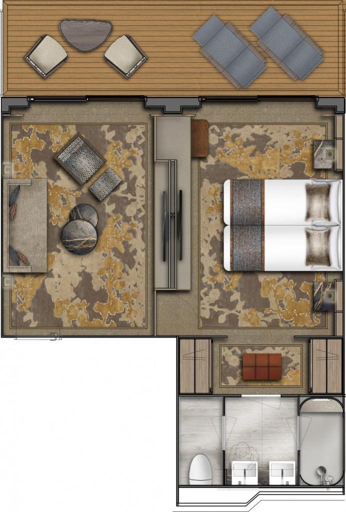 World Explorer, Grundriss VIP-Suite