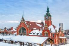 Hauptbahnhof von Danzig im Winter