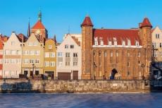 Altes Stadttor von Danzig im Winter
