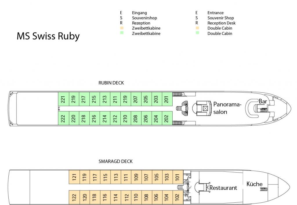 Swiss Ruby, Deckplan