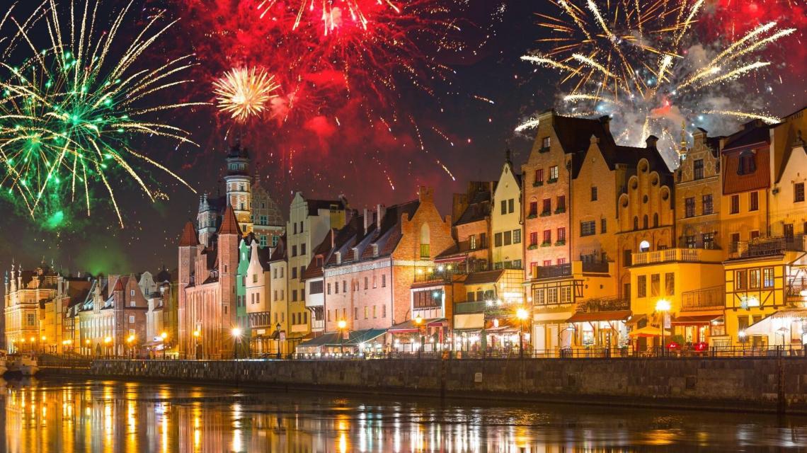Silvesterfeuerwerk in Danzig