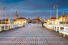 Pier von Sopot an der Ostsee im Winter
