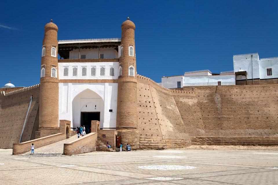 Ark Fortress in Bukhara Uzbekistan