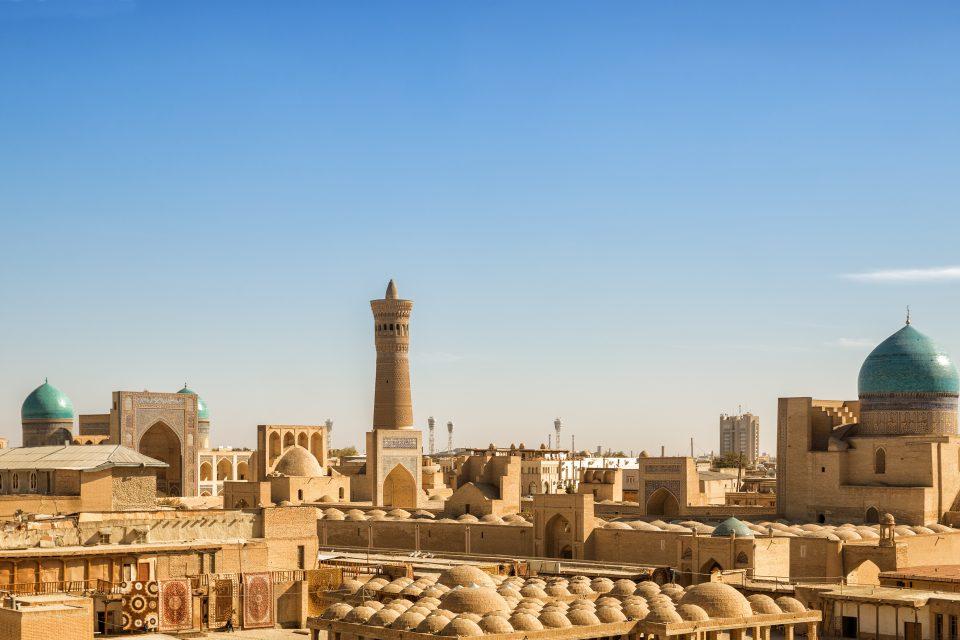 Aussicht über Bukhara in Uzbekistan