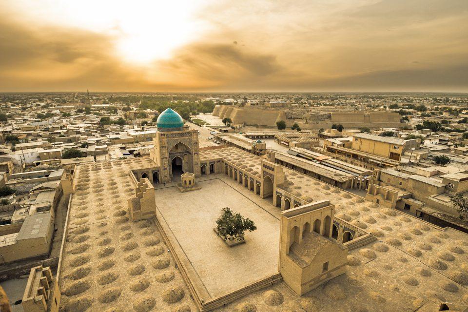Panorama von Bukhara in Uzbekistan