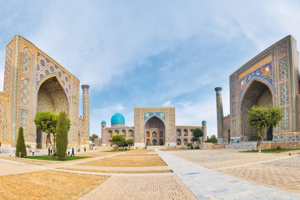 Der Registan Platz in Samarkand