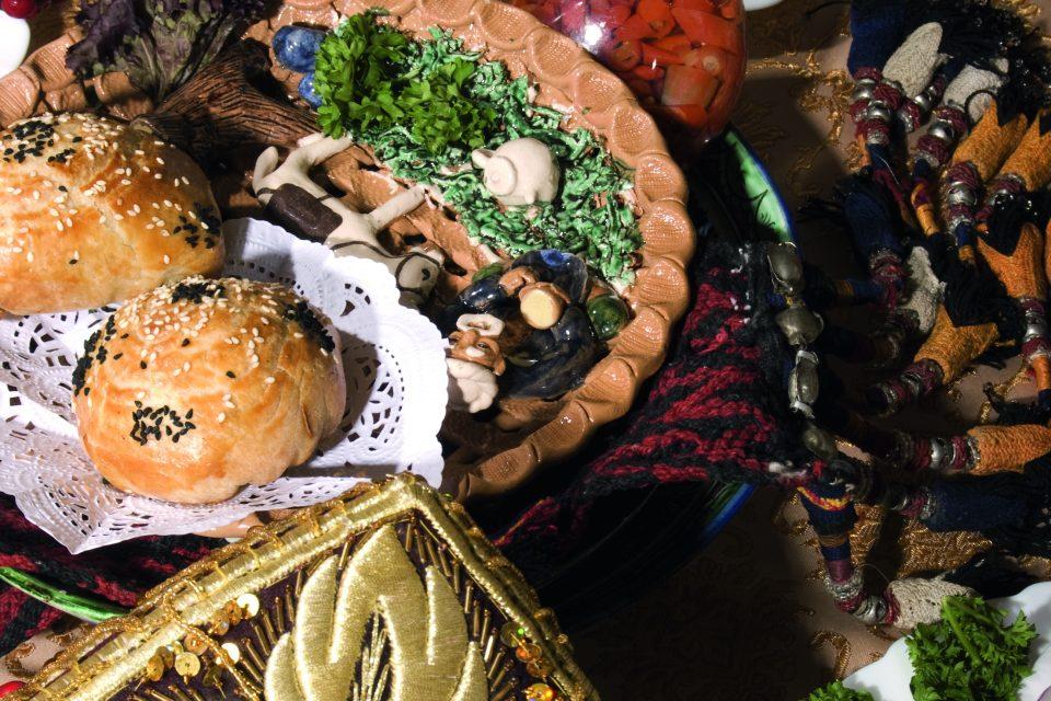 Festliches Essen in Usbekistan