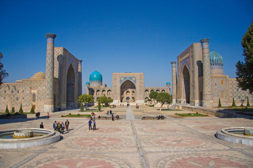 Platz vor dem Registan in Samarkand