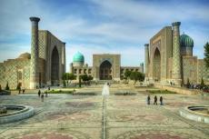 Platz vor dem Registan in Samarkand Usbekistan