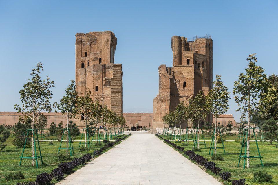 Ruinen des Sommerpalastes von Timur Weißes Schloss in Shahrisabz
