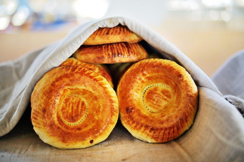 Traditionelles Brot aus Usbekistan