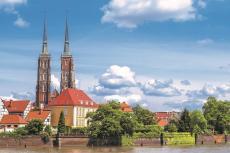 Aussicht auf Breslau mit der Johannes-Kathedrale