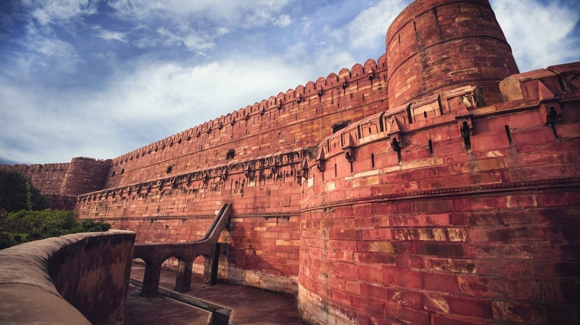 Das Rote Fort in Agra