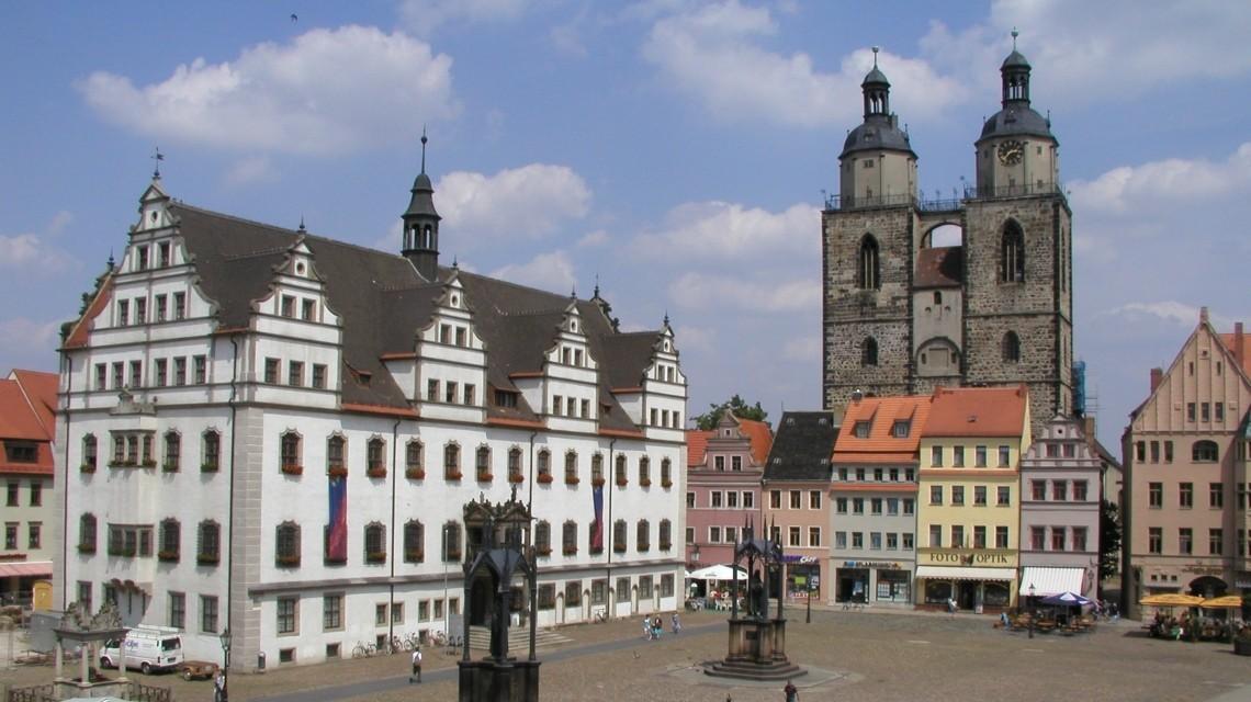 Stadtkirche Wittenberg und Markt
