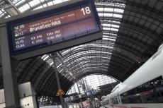 Bahnfahrt nach Brüssel