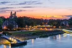 Rheinufer von Speyer am Abend - pixabay