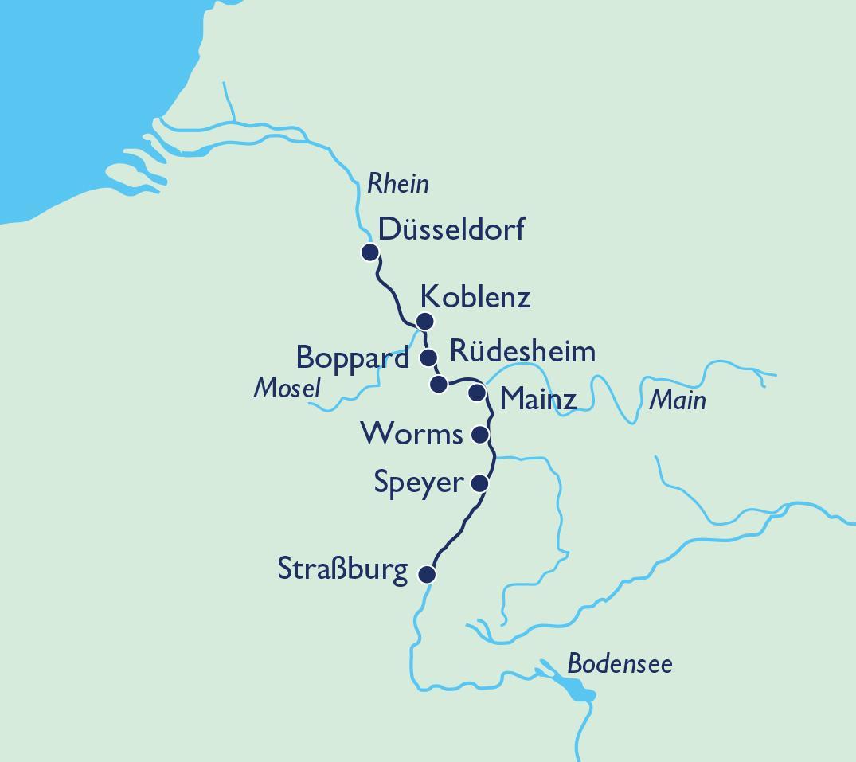 Route Rhein