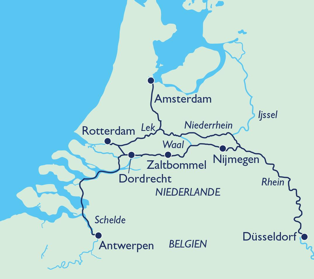 Route Holland Flandern