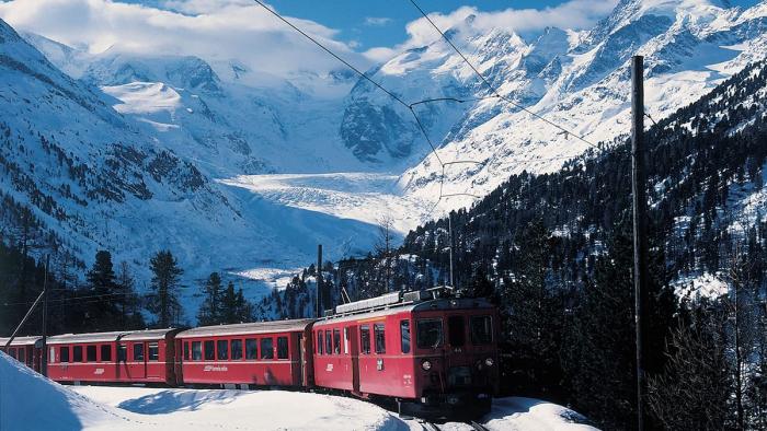 Bernina Express Nähe Morteratsch